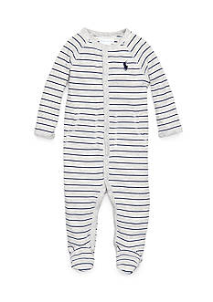 Ralph Lauren Childrenswear Stripe Coverall Toddler Boys