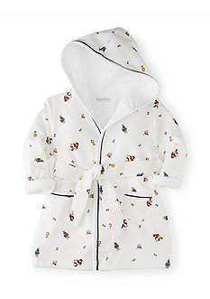Ralph Lauren Childrenswear Hooded Cotton Terry Bathrobe