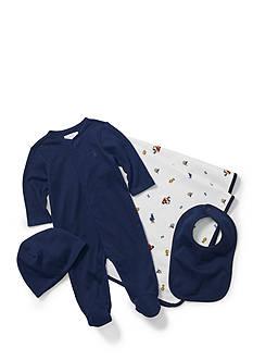 Ralph Lauren Childrenswear 4-Piece Coverall Set