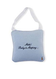 Ralph Lauren Childrenswear 'Baby Is Sleeping' Door Hanger