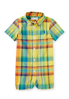 Ralph Lauren Childrenswear Plaid Polo Shortall