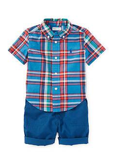 Ralph Lauren Childrenswear 2-Piece Plaid Shirt and Short Set