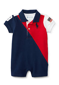 Ralph Lauren Childrenswear Basic Mesh Shortall One Piece Baby/Infant Boy