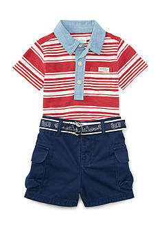Ralph Lauren Childrenswear Stripe Short-Set