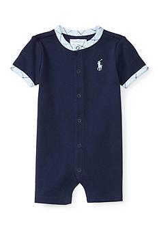Ralph Lauren Childrenswear Snap Front Shortall Baby/Infant Boy