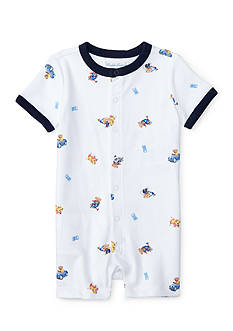 Ralph Lauren Childrenswear Snap Front Shortalls Baby/Infant Boy