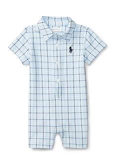 Ralph Lauren Childrenswear Plaid Shortall Baby/Infant Boy