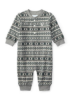 Ralph Lauren Childrenswear Fair Isle Coveralls Baby/Infant Boy