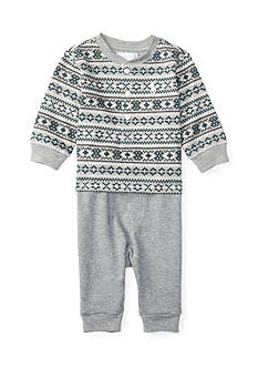 Ralph Lauren Childrenswear 2-piece Patterned Henley and Jogger Pants Set Baby/Infant Boy