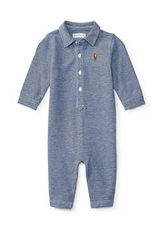 Ralph Lauren Childrenswear Solid Mesh Coveralls Baby/Infant Boy