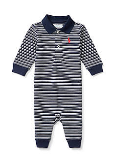 Ralph Lauren Childrenswear Solid Mesh Coverall Baby/Infant Boys