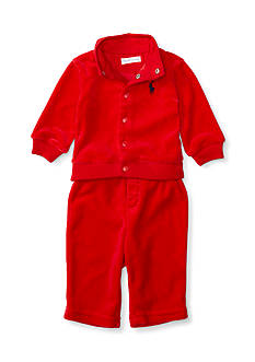 Ralph Lauren Childrenswear Velour Jacket & Pant Set Baby/Infant Boy