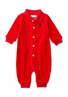 Ralph Lauren Childrenswear Velour One Piece Coverall - Baby/Infant Boy