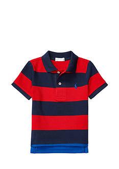 Ralph Lauren Childrenswear Mesh Stripe Polo Top Baby/Infant Boy