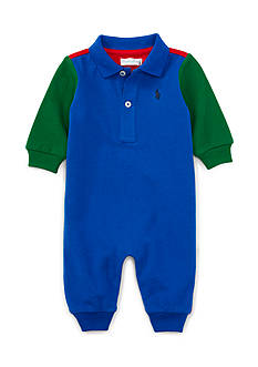 Ralph Lauren Childrenswear Basic Mesh Coverall - Baby/Infant Boy