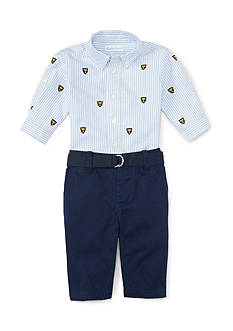 Ralph Lauren Childrenswear Oxford Schiffli Set - Baby/Infant Boy