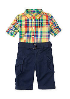 Ralph Lauren Childrenswear Poplin Cargo Pants Set - Baby/Infant Boy