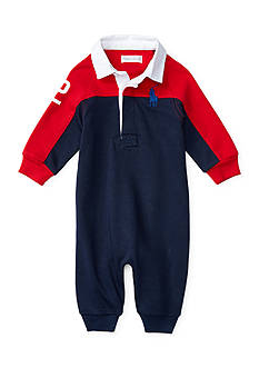 Ralph Lauren Childrenswear Cotton Rugby Coverall Baby/Infant Boy
