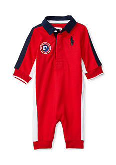 Ralph Lauren Childrenswear Cotton Jersey Rugby Coverall Baby/Infant Boy