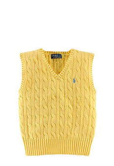 Ralph Lauren Childrenswear Classic Cabled Vest Toddler Boys