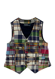 Ralph Lauren Childrenswear Patchwork Madras Vest Toddler Boys