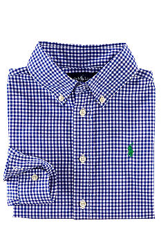 Ralph Lauren Childrenswear Gingham Poplin Blake Button-Down Shirt Toddler Boys