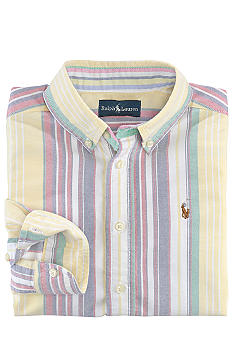 Ralph Lauren Childrenswear Striped Oxford Blake Button-Down Shirt Toddler Boys