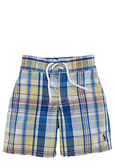 Ralph Lauren Childrenswear Plaid Swim Trunk Toddler Boy