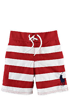 Ralph Lauren Childrenswear Tulum Stripe Swim Trunk Toddler Boy