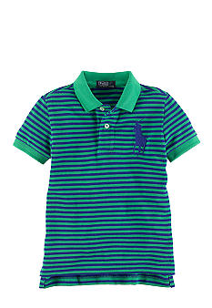 Ralph Lauren Childrenswear Striped Mesh Polo with Pony Toddler Boys