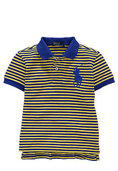 Ralph Lauren Childrenswear Striped Big Pony Mesh Polo Toddler Boys