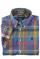 Ralph Lauren Childrenswear Preppy Short Sleeved Madras Button Down Toddler Boys