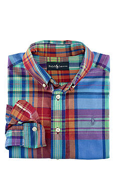 Ralph Lauren Childrenswear Classic Plaid Shirt Toddler Boy