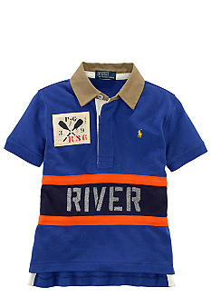 Ralph Lauren Childrenswear River Rapid Mesh Polo Toddler Boy