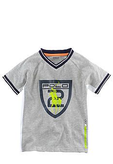 Ralph Lauren Childrenswear Active V-Neck Graphic Tee Toddler Boy