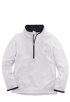 Ralph Lauren Childrenswear White Half-Zip Pullover