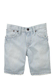 Ralph Lauren Childrenswear Railroad Stripe Denim Shorts Toddler Boys
