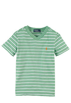 Ralph Lauren Childrenswear Stripe V-Neck Tee Toddler Boy