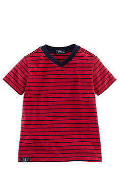 Ralph Lauren Childrenswear Nautical Stripe V-Neck Tee Toddler Boys