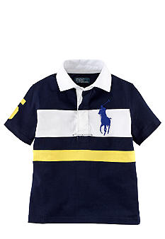 Ralph Lauren Childrenswear Contrast Stripes Rugby Toddler Boys