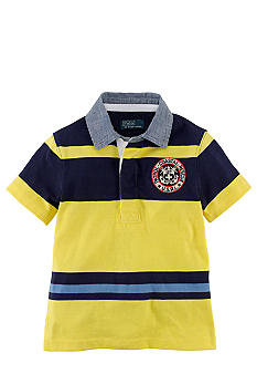 Ralph Lauren Childrenswear Coastal Rescue Stripe Rugby Toddler Boys