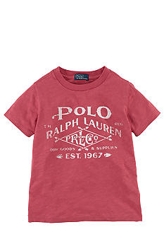 Ralph Lauren Childrenswear Polo Logo Screenprint Tee Toddler Boy