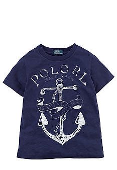 Ralph Lauren Childrenswear Screenprint Anchor Tee Toddler Boy