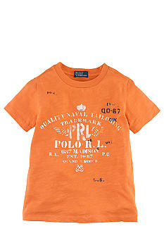 Ralph Lauren Childrenswear Graphic Crewneck Tee Toddler Boy