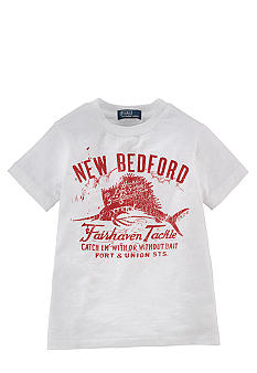 Ralph Lauren Childrenswear Fishing Graphic Tee Toddler Boys
