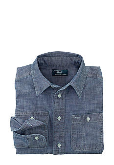 Ralph Lauren Childrenswear Matlock Chambray Shirt Toddler Boys