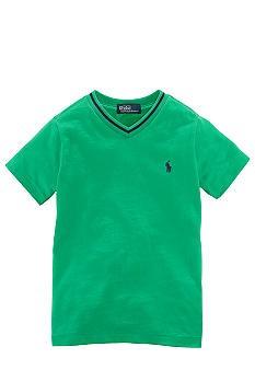 Ralph Lauren Childrenswear Cotton Jersey V-Neck Tee Toddler Boys