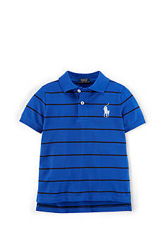 Ralph Lauren Childrenswear Sporty Pique Striped Polo Shirt Toddler Boys