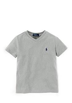 Ralph Lauren Childrenswear V-Neck Cotton Jersey Tee Toddler Boys