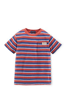 Ralph Lauren Childrenswear Preppy Striped Space-Dyed Tee Shirt Toddler Boys